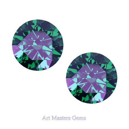 Art-Masters-Gems-Standard-Set-of-Two-1-0-0-Carat-Russian-Alexandrite-Created-Gemstones-RCG100S-AL-T