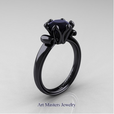 Art-Masters-Classic-14K-Black-Gold-1-5-Ct-Black-Diamond-Solitaire-Engagement-Ring-AR127-14KBGBD-P-402×402