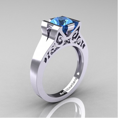 Art-Masters-Modern-Art-Deco-14K-White-Gold-1-Ct-Blue-Topaz-Engagement-Ring-R36N-14KWGBT-P-402×402
