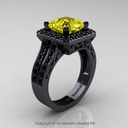 Art_Deco_14K_Black_Gold_3_0_Ct_Royal_Emerald_Cut_Yellow_Sapphire_Black_Diamond_Engagement_Ring_Wedding_Ring_R262_14KBGBDYS_P_jpg-100764-500×500