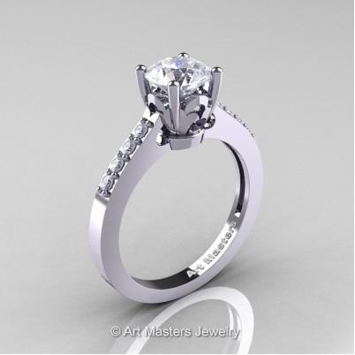 Classic-14K-White-Gold-1-Carat-White-Sapphire-Diamond-Solitaire-Wedding-Ring-R101-14KWGDWS-P-402×402
