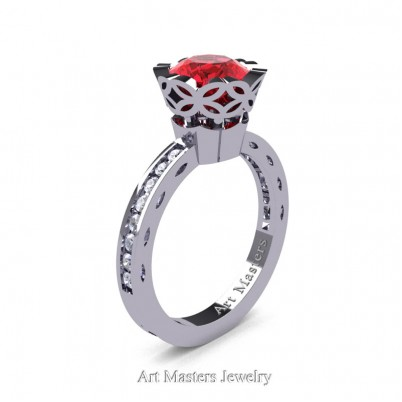 Classic-Armenian-14K-White-Gold-1-Ct-Ruby-Diamond-Solitaire-Engagement-Ring-AR140-14KWGDR-P-402×402