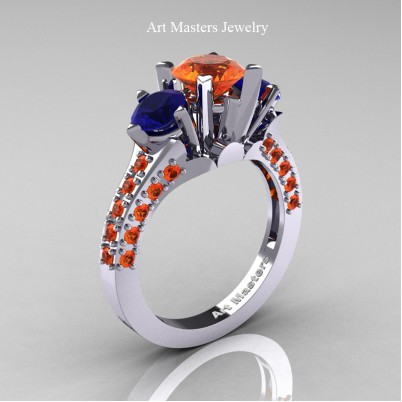 Classic-French-14K-White-Gold-Three-Stone-2-Ct–Orange-Blue-Sapphire-Solitaire-Wedding-Ring-R421-14KWGBSOS-P-402×402