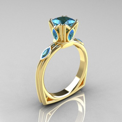 Modern-Antique-14K-Yellow-Gold-1-CT-Princess-Marquise-Blue-Topaz-Solitaire-Ring-R219-YGBT-P-402×402
