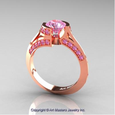 Modern-French-14K-Rose-Gold-1-0-Carat-Light-Pink-Sapphire-Engagement-Ring-Wedding-Ring-R376-14KRGLPS-P2-402×402