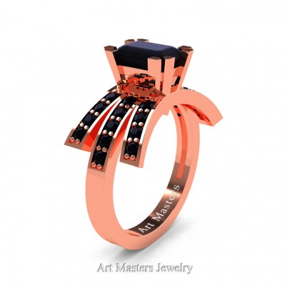 Modern-Victorian-14K-Rose-Gold-1-Ct-Emerald-Cut-Black-Diamond-Engagement-Ring-R344-14KRGBD-P-402×402