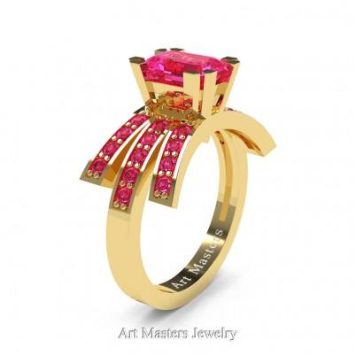 Modern-Victorian-14K-Yellow-Gold-1-Ct-Emerald-Cut-Pink-Sapphire-Engagement-Ring-R344-14KYGPS-P-402×402