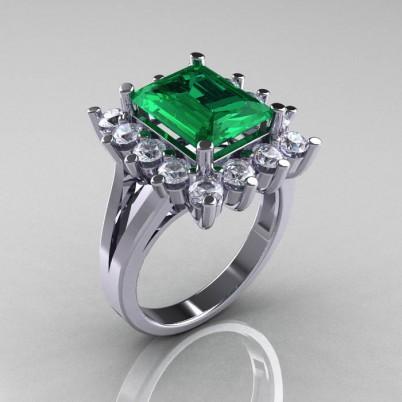 Modern-Victorian-4-Carat-Emerald-White-Sapphire-Engagement-Ring-R217-WGEMWS-P-402×402