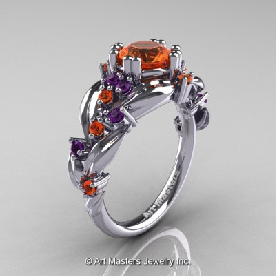 Nature-Classic-14K-White-Gold-1-0-Ct-Orange-Sapphire-Amethyst-Leaf-and-Vine-Engagement-Ring-R340-14KWGBAMOS-P-402×402