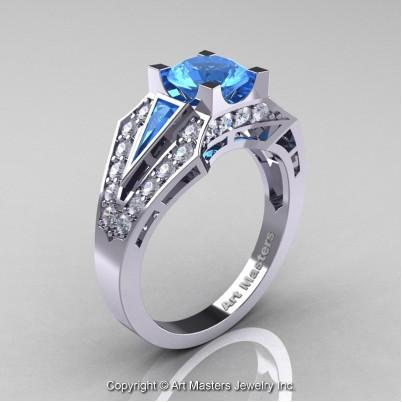 Royal-Edwardian-14K-White-Gold-1-0-Ct-Blue-Topaz-Diamond-Engagement-Ring-R285-14KWGDBT-P-402×402