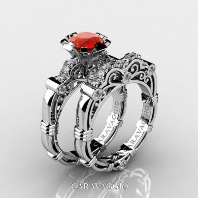Amazon-Art-Masters-Caravagio-14K-White-Gold-1-Carat-Orange-Sapphire-Diamond-Engagement-Ring-Wedding-Band-Set-R623S-14KWGDOS-P2-402×402