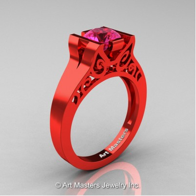 Art-Masters-Modern-Classic-14K-Red-Gold-1-Ct-Pink-Sapphire-Engagement-Ring-R36N-14KRGPS-P-402×402