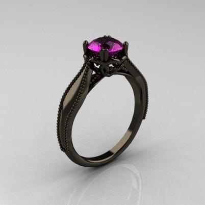 Art-Nouveau-Black-Gold-Amethyst-Engagement-Ring-R207-BGAM-P-402×402