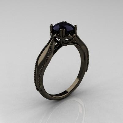 Art-Nouveau-Black-Gold-Black-Diamond-Engagement-Ring-R207-BGBD-P-402×402