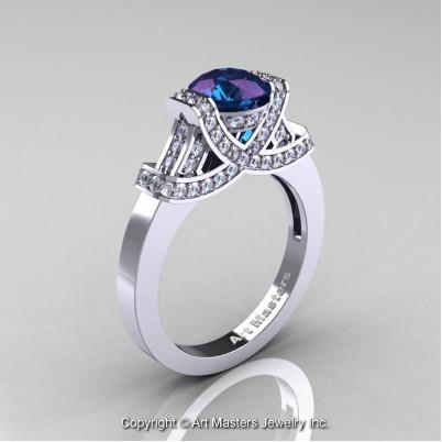 Classc-Armenian-14K-White-Gold-1-0-Ct-Alexandrite-Diamond-Engagement-Ring-Wedding-Ring-R283-14KWGDAL-P-402×402