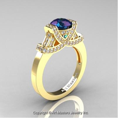 Classc-Armenian-14K-Yellow-Gold-1-0-Ct-Alexandrite-Diamond-Engagement-Ring-Wedding-Ring-R283-14KYGDAl-P-402×402
