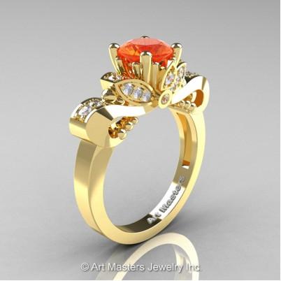 Classic-14K-Yellow-Gold-1-Carat-Orange-Sapphire-Diamond-Solitaire-Engagement-Ring-R323-14KYGDOS-P-402×402