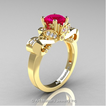 Classic-14K-Yellow-Gold-1-Carat-Rose-Ruby-Diamond-Solitaire-Engagement-Ring-R323-14KYGDRR-P-402×402