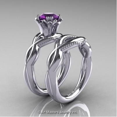 Faegheh-Modern-Classic-14K-White-Gold-1-0-Ct-Amethyst-Engagement-Ring-Wedding-Band-Bridal-Set-R290S-14KWGAM-P-402×402