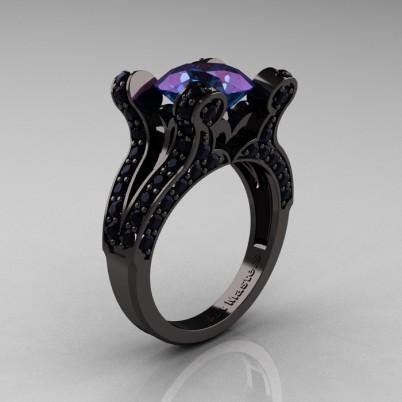 French-Vintage-Black-Gold-3-0-Carat-Alexandrite-Black-Diamond-Pisces-Weddinng-Ring-Engagement-Ring-R228-BGDAL-P-402×402