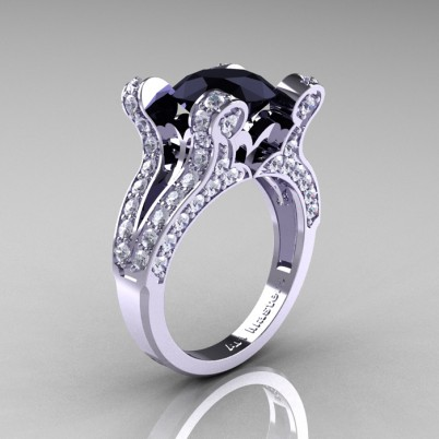 French-Vintage-White-Gold-3-0-Carat-Black-and-White-Diamond-Pisces-Weddinng-Ring-Engagement-Ring-Y228-WGDBD-P-402×402