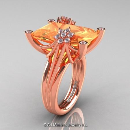 Modern-Bridal-14K-Rose-Gold-Peach-Sapphire-Diamond-Honeymoon-Cocktail-Ring-R292-14KRGDPES-P-700×700