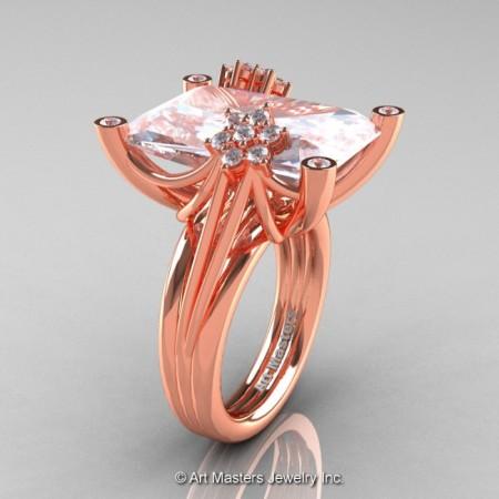 Modern-Bridal-14K-Rose-Gold-White-Sapphire-Diamond-Honeymoon-Cocktail-Ring-R292-14KRGDWS-P-700×700