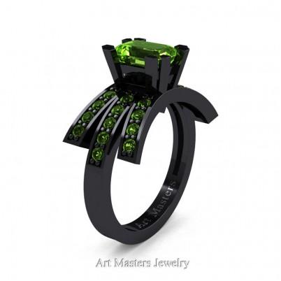 Modern-Victorian-14K-Black-Gold-1-Ct-Emerald-Cut-Peridot-Engagement-Ring-R344-14KBGP-P-402×402