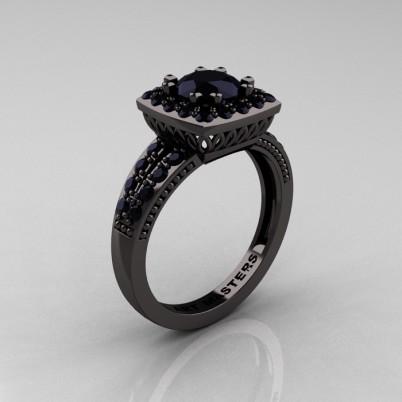 Renaissance-Classic-Black-Gold-1-0-Carat-Round-Black-Diamond-Engagement-Ring-R220-BGBD-P-402×402