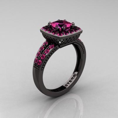 Renaissance-Classic-Black-Gold-1-23-Carat-Princess-Pink-Sapphire-Engagement-Ring-R220P-BGPS-P-402×402