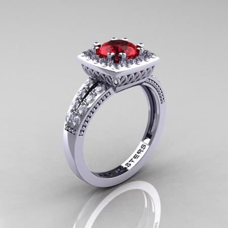 Renaissance-Classic-White-Gold-1-0-Carat-Round-Ruby-Diamond-Engagement-Ring-R220-WGDR-P-700×700