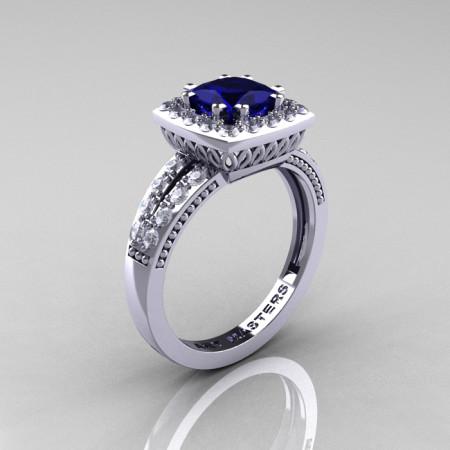 Renaissance-Classic-White-Gold-1-23-Carat-Princess-Blue-Sapphire-Diamond-Engagement-Ring-R220P-WGDBS-P-700×700 (1)