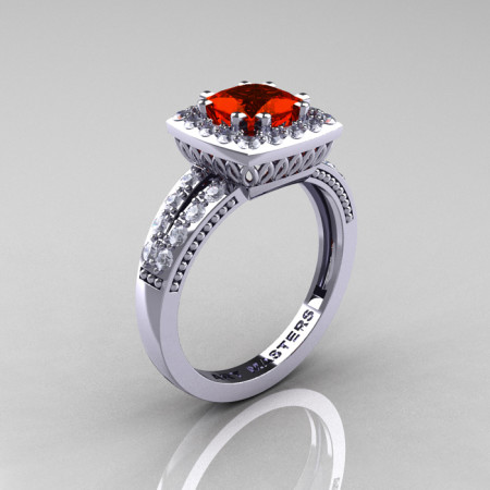 Renaissance-Classic-White-Gold-1-23-Carat-Princess-Padparadscha-Diamond-Engagement-Ring-R220P-WGDPA-P-700×700