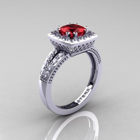Renaissance-Classic-White-Gold-1-23-Carat-Square-Ruby-Diamond-Engagement-Ring-R220P-WGDR-P-700×700