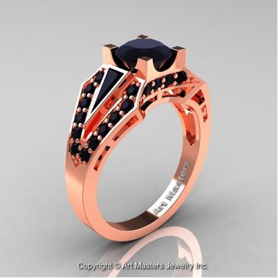 Royal-Edwardian-14K-Rose-Gold-1-0-Ct-Black-Diamond-Engagement-Ring-R285-14KRGBD-P-402×402