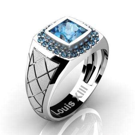 Louis-XIII-Modern-14K-White-Gold-1-25-Carat-Princess-Blue-Topaz-Diamond-Wedding-Ring-R1131-14KSWGDBT